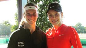 Vivian Heisen (links, mit Doppel-Partnerin Katharina Hobgarski),  Tennis, Oldenburg
